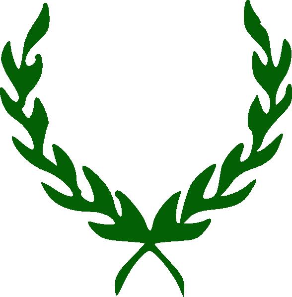 Laurel clipart green. Wreath clip art at