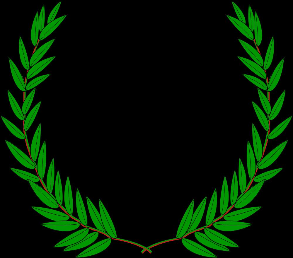 Laurel clipart pretty leaf. Onlinelabels clip art wreath