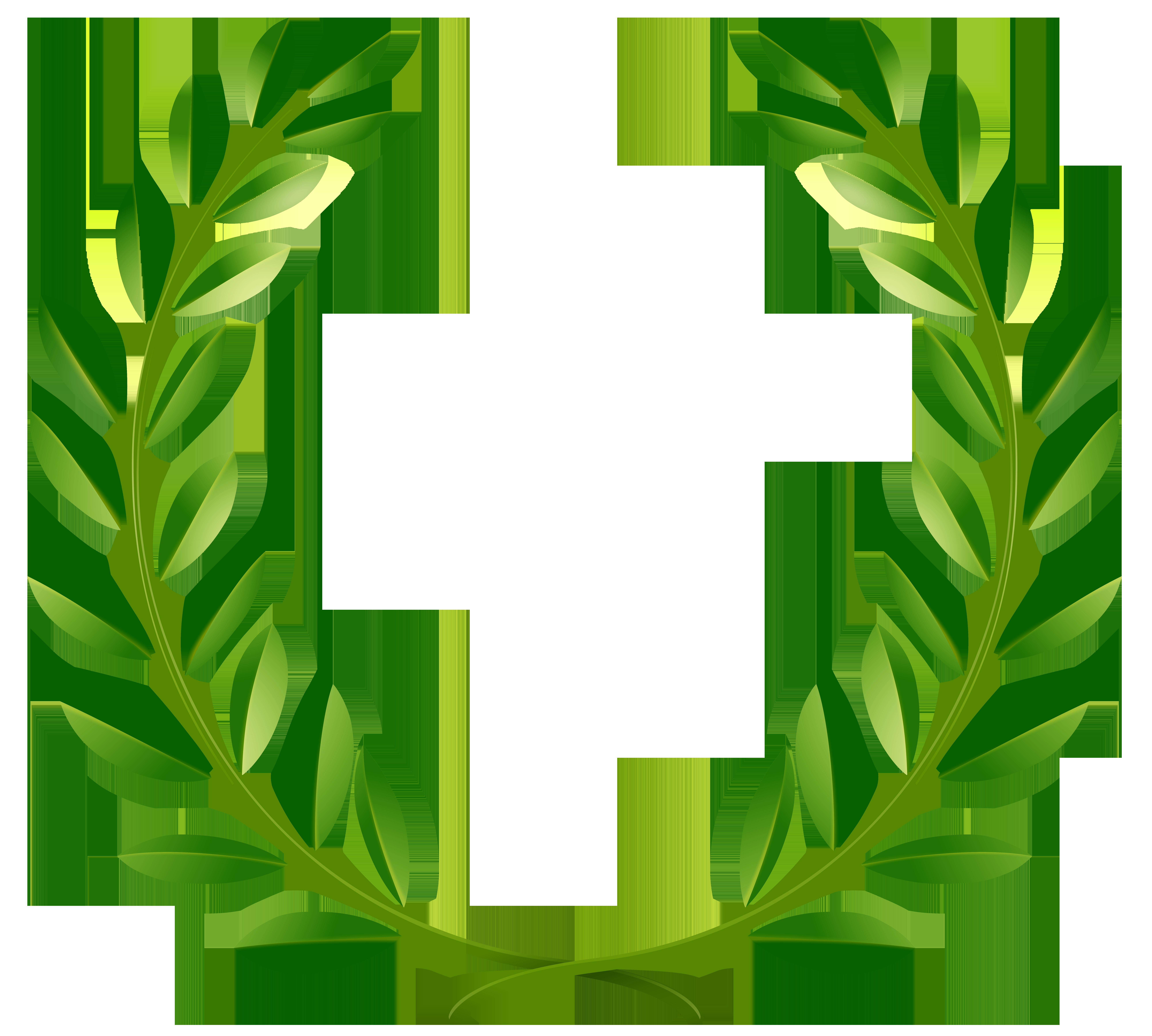 Laurel clipart green. Leaves png clip art