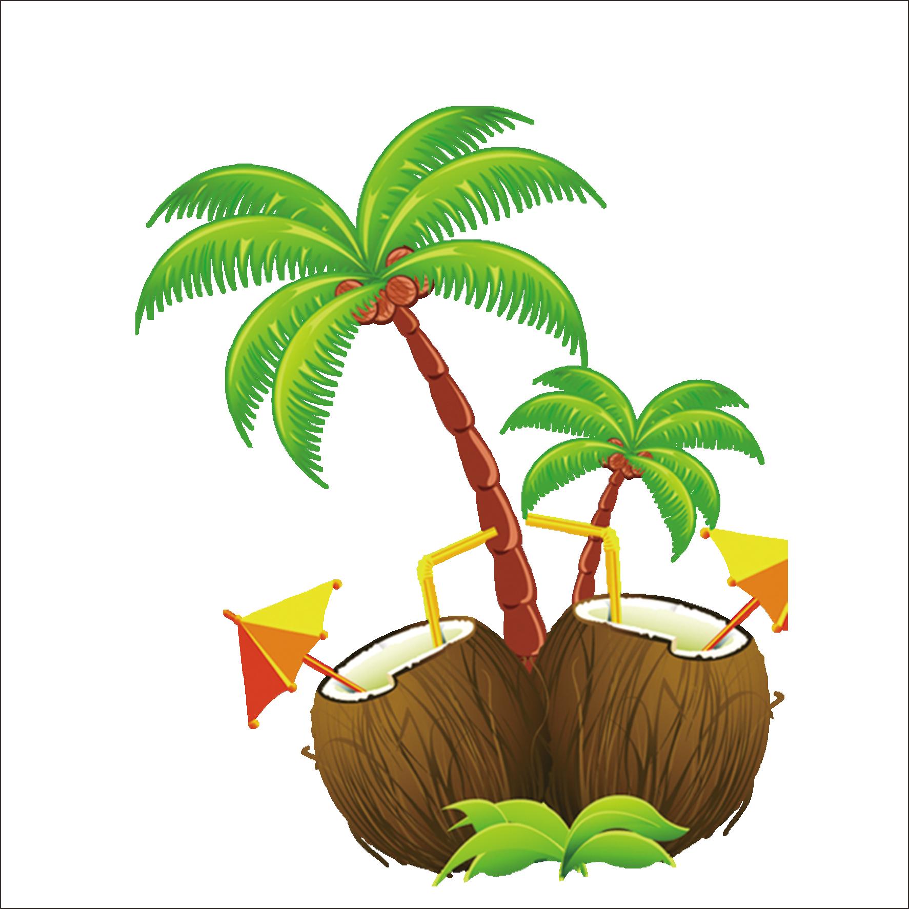 Island clipart gilligan's island. Hawaii clip art coconut