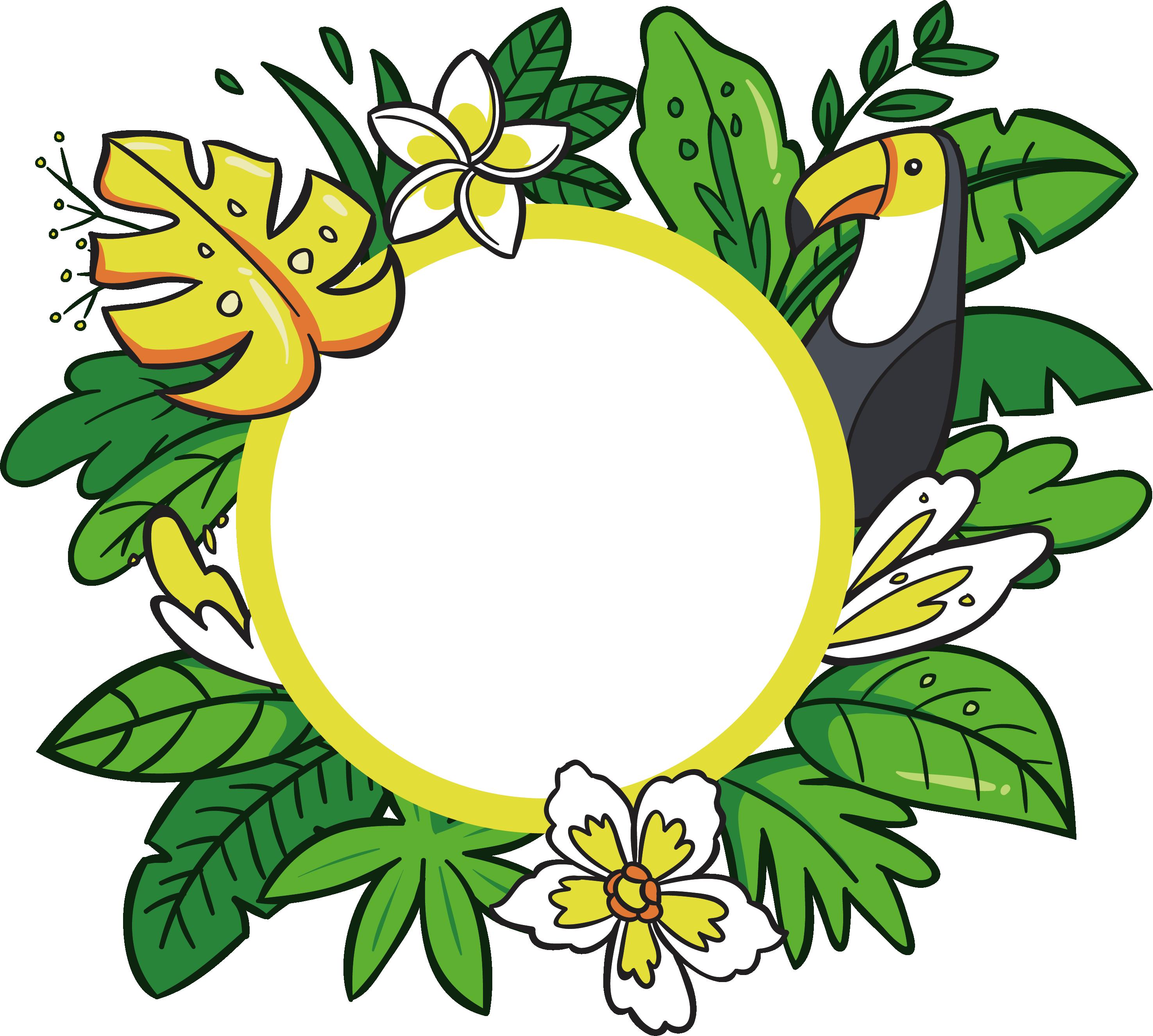 Mango clipart pineapple hawaii. Floral design cartoon clip