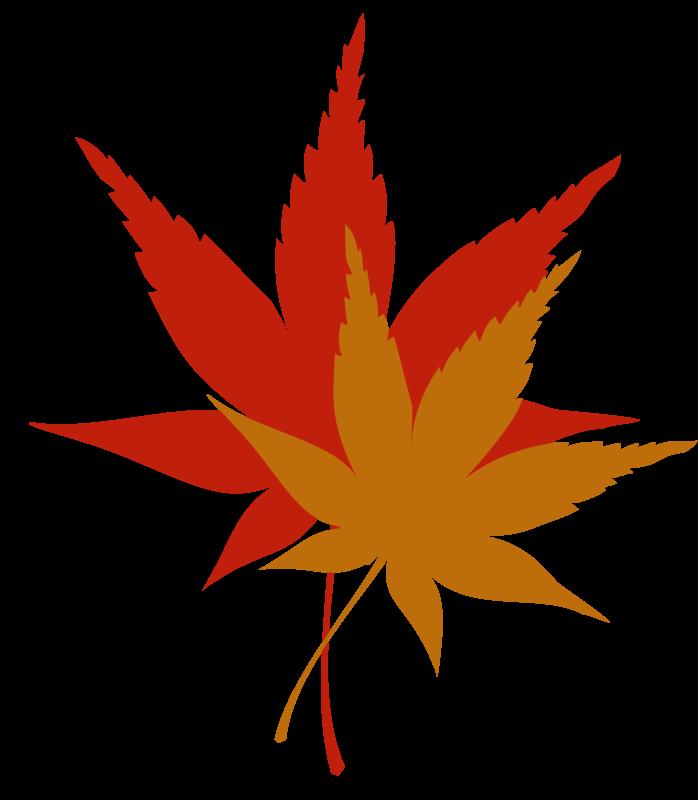 Maple leaf free clip. Japanese clipart shrine japanese