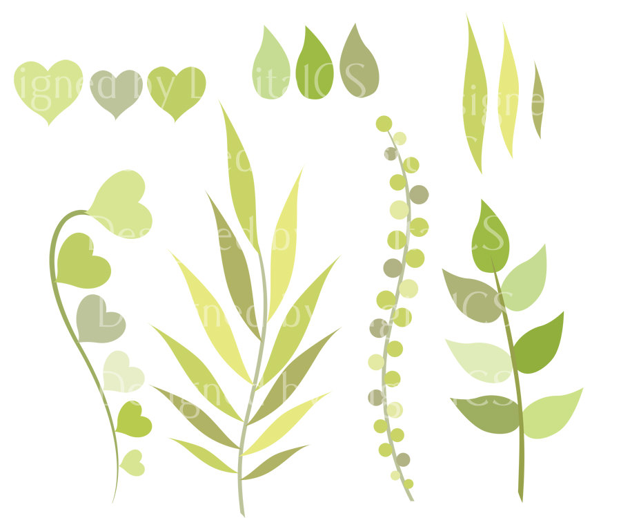 Leaves clip art green. Nature clipart leaf
