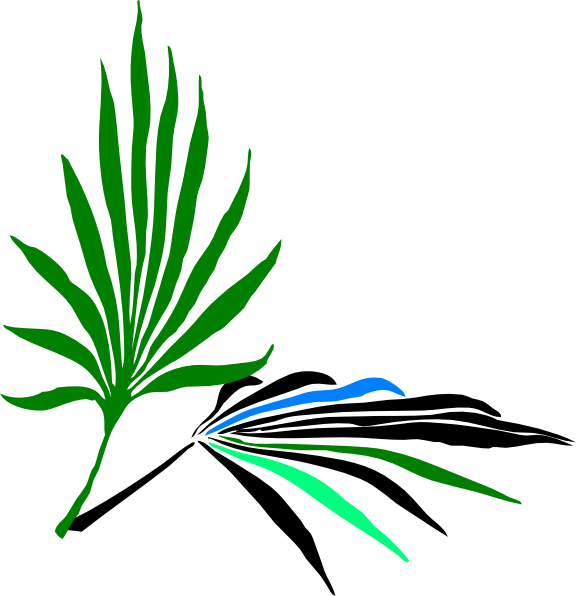 Clipart leaves palm leaves. Clip art at clker
