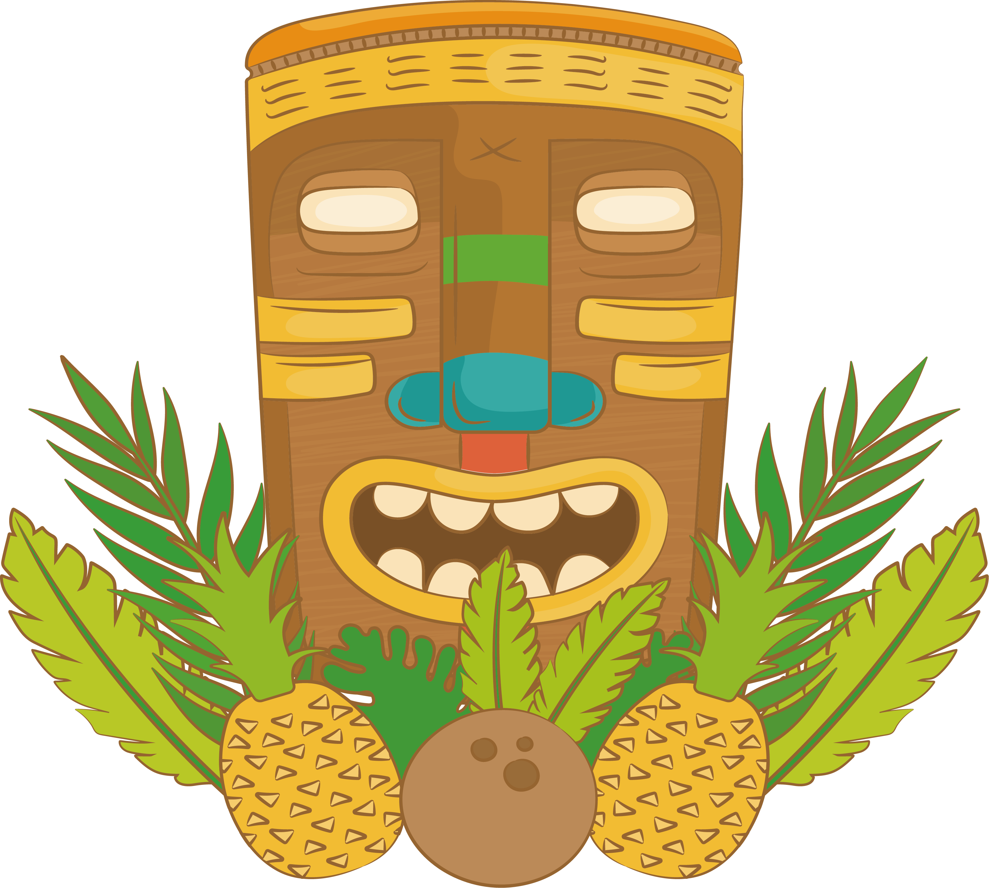 Pineapple clipart character. Adobe illustrator a decorative