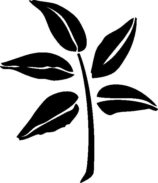 Fern clipart stencil. Leaf silhouette clip art