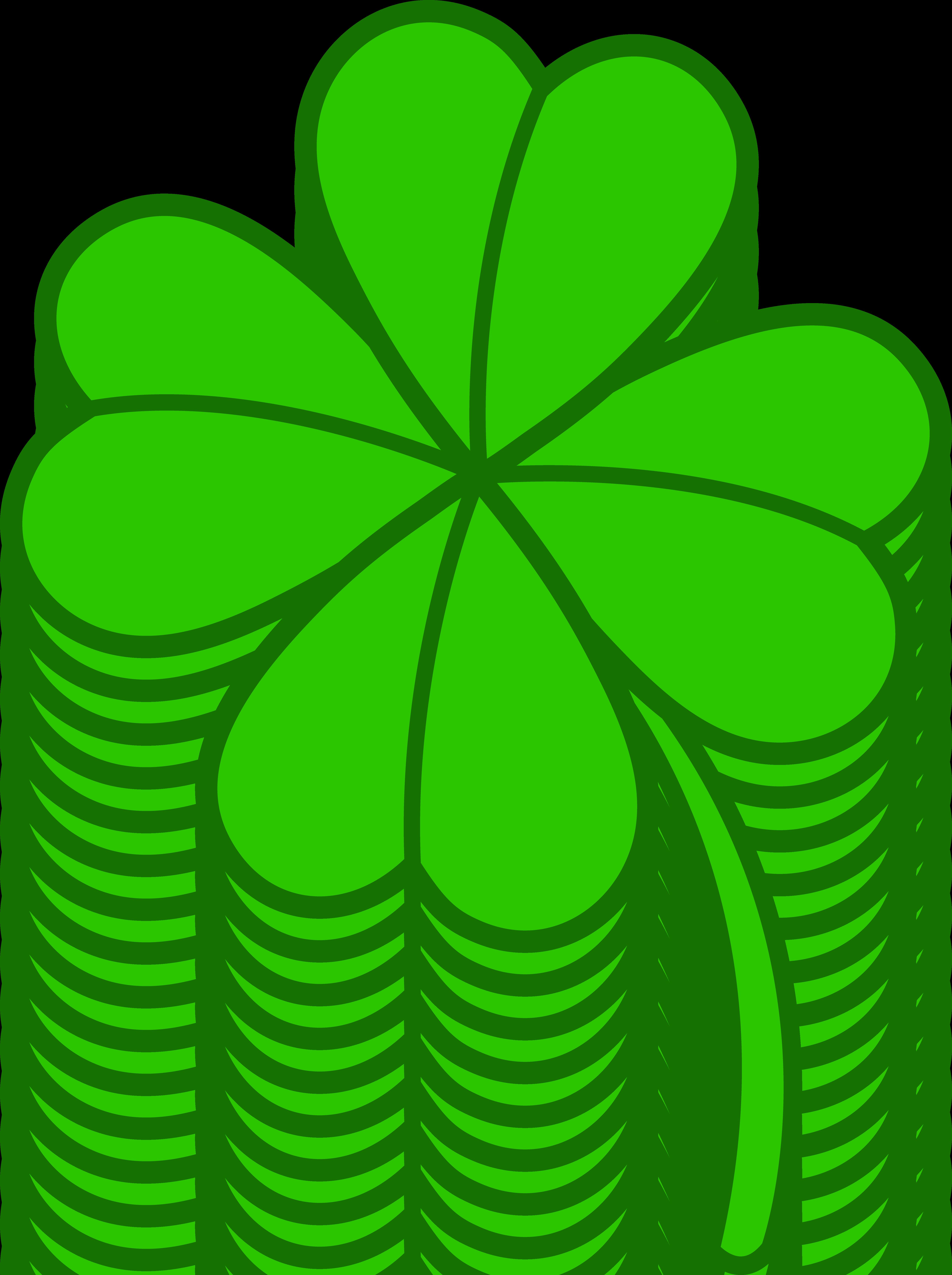 Clover clipart simple. Four leaf version free