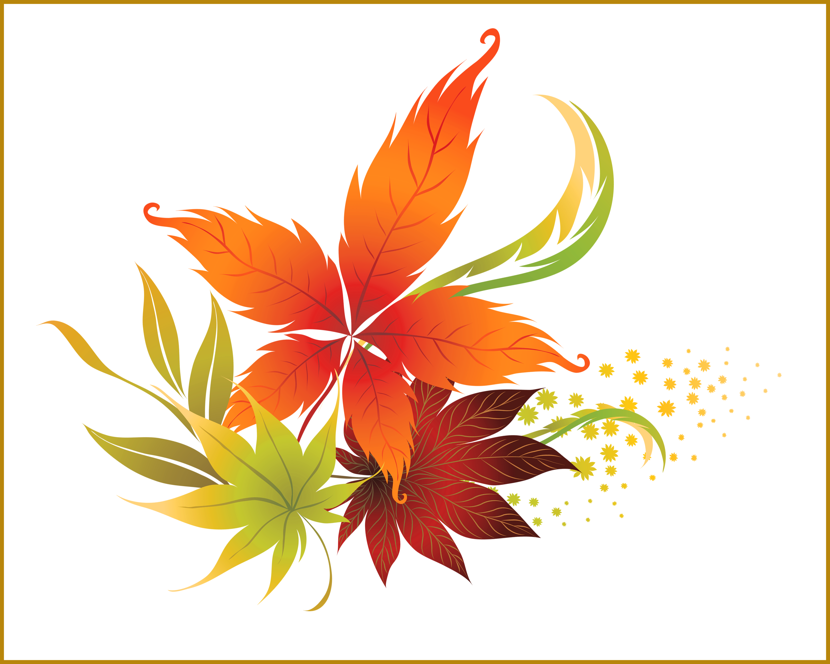Leaves clipart sunflower. Awesome fall leaf no