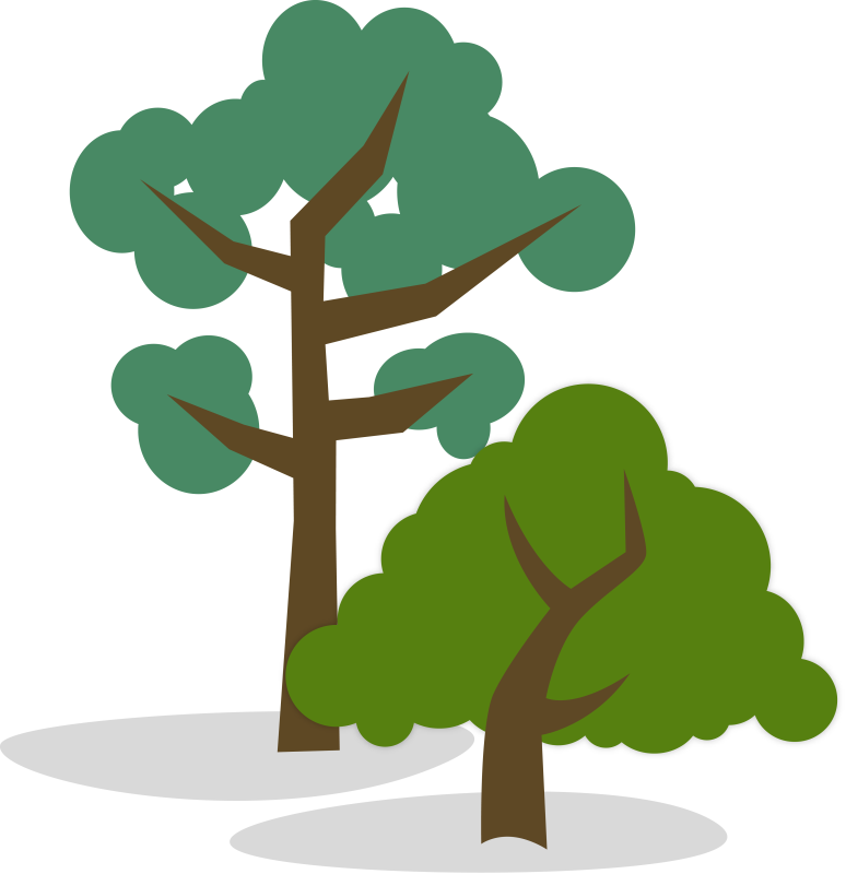 Short clipart tall tall tall tree. Stylized illustration of one