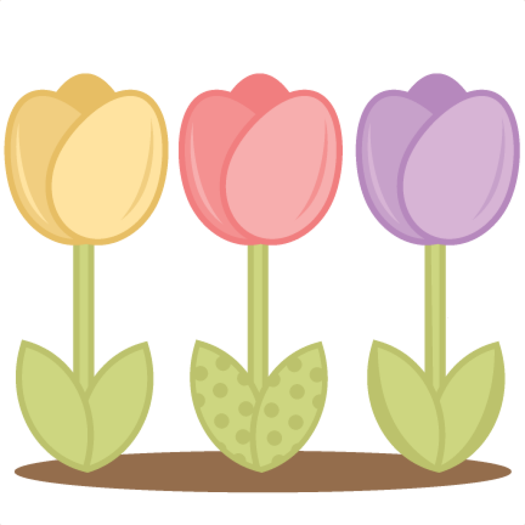 Frog hatenylo com tulips. Clipart leaves tulip