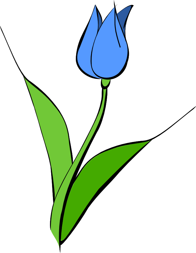 Clipart leaves tulip. Panda free images democlipart