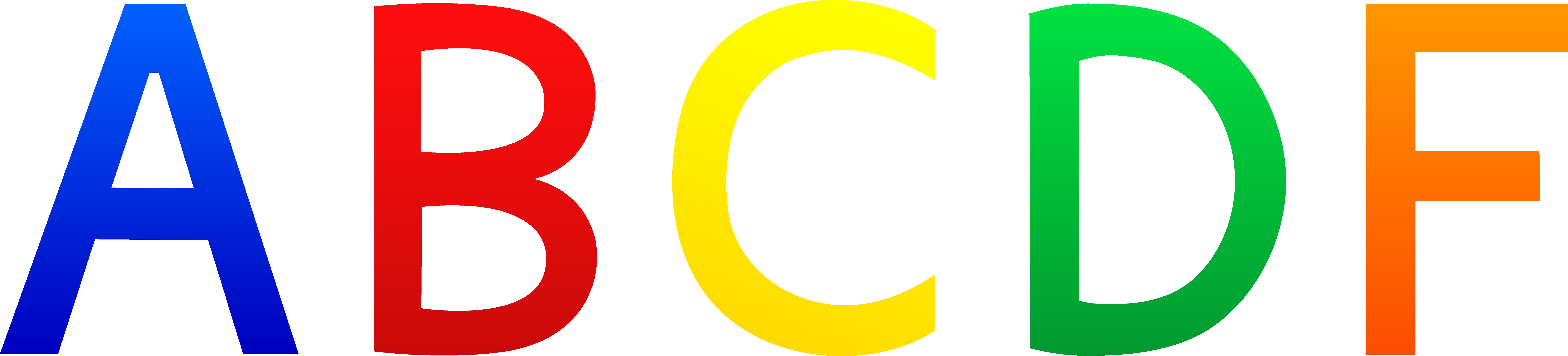 Kids clipart alphabet. Clip art letters free