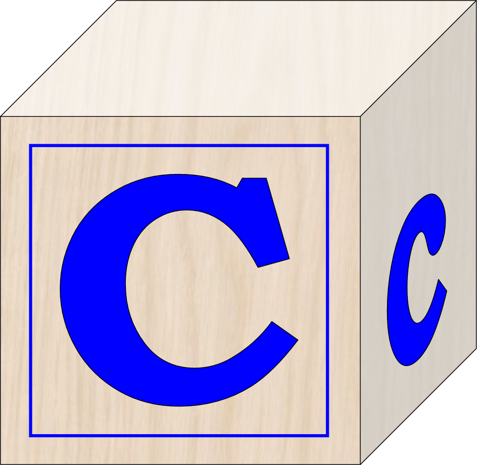 Blocks free images at. E clipart letter c