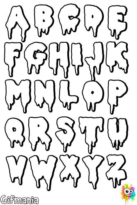 Drama letters abc handlettering. Number 3 clipart bubble writing