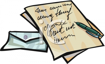 Body of a business. Letters clipart official letter