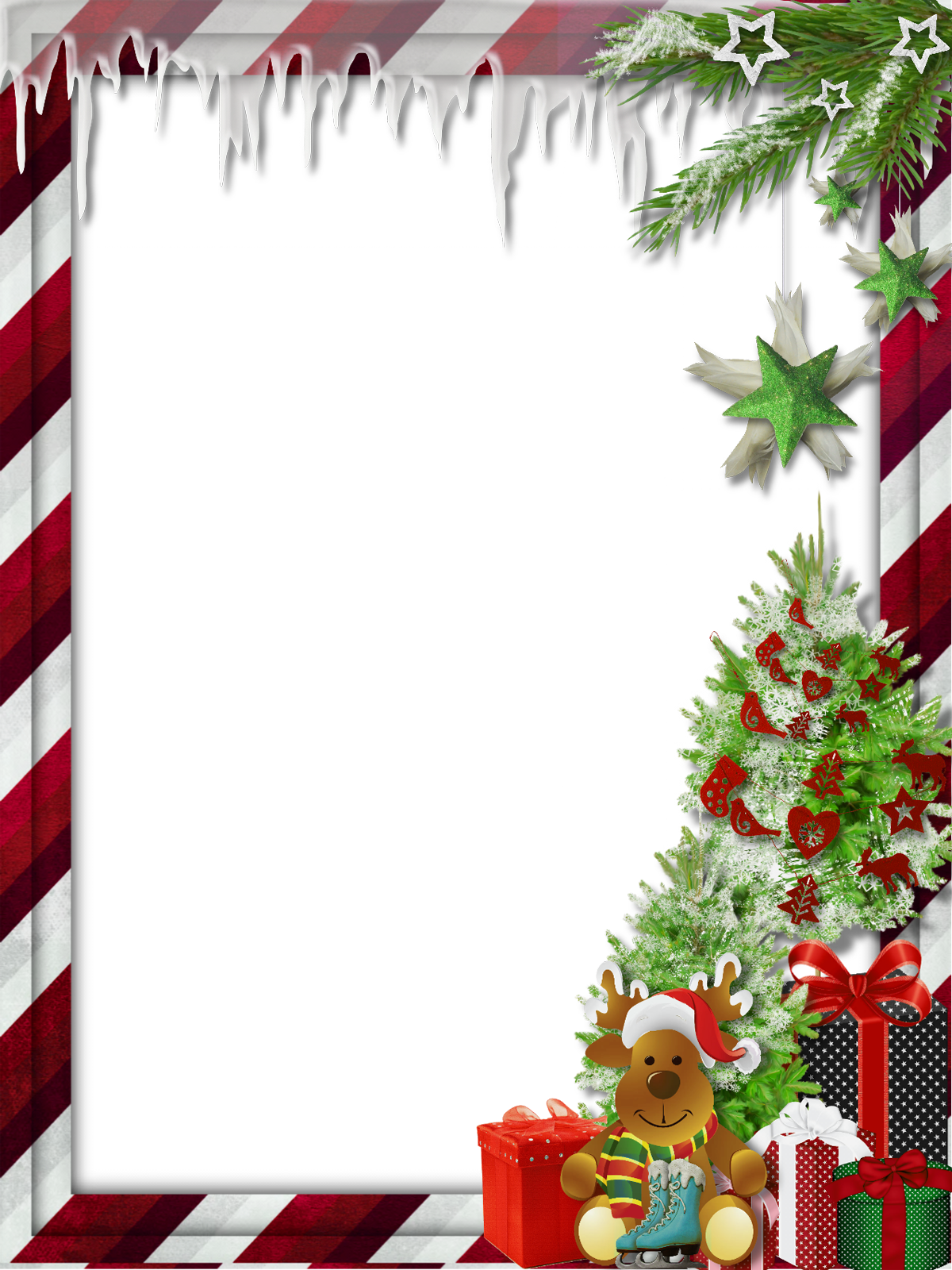 Worm clipart christmas. Transparent photo frame with