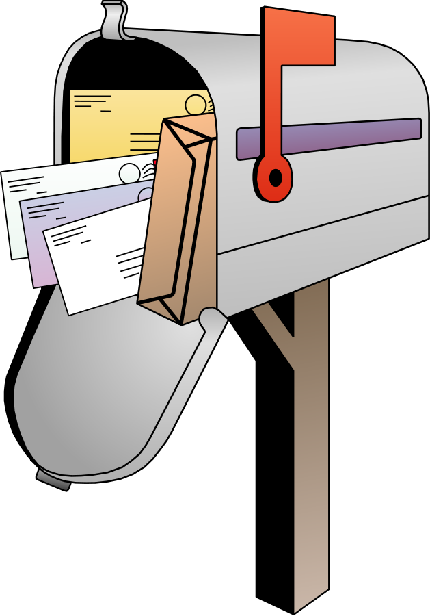 Mail box letters format. Mailbox clipart february