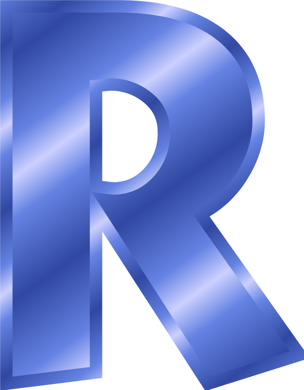 collection of r. E clipart blue letter