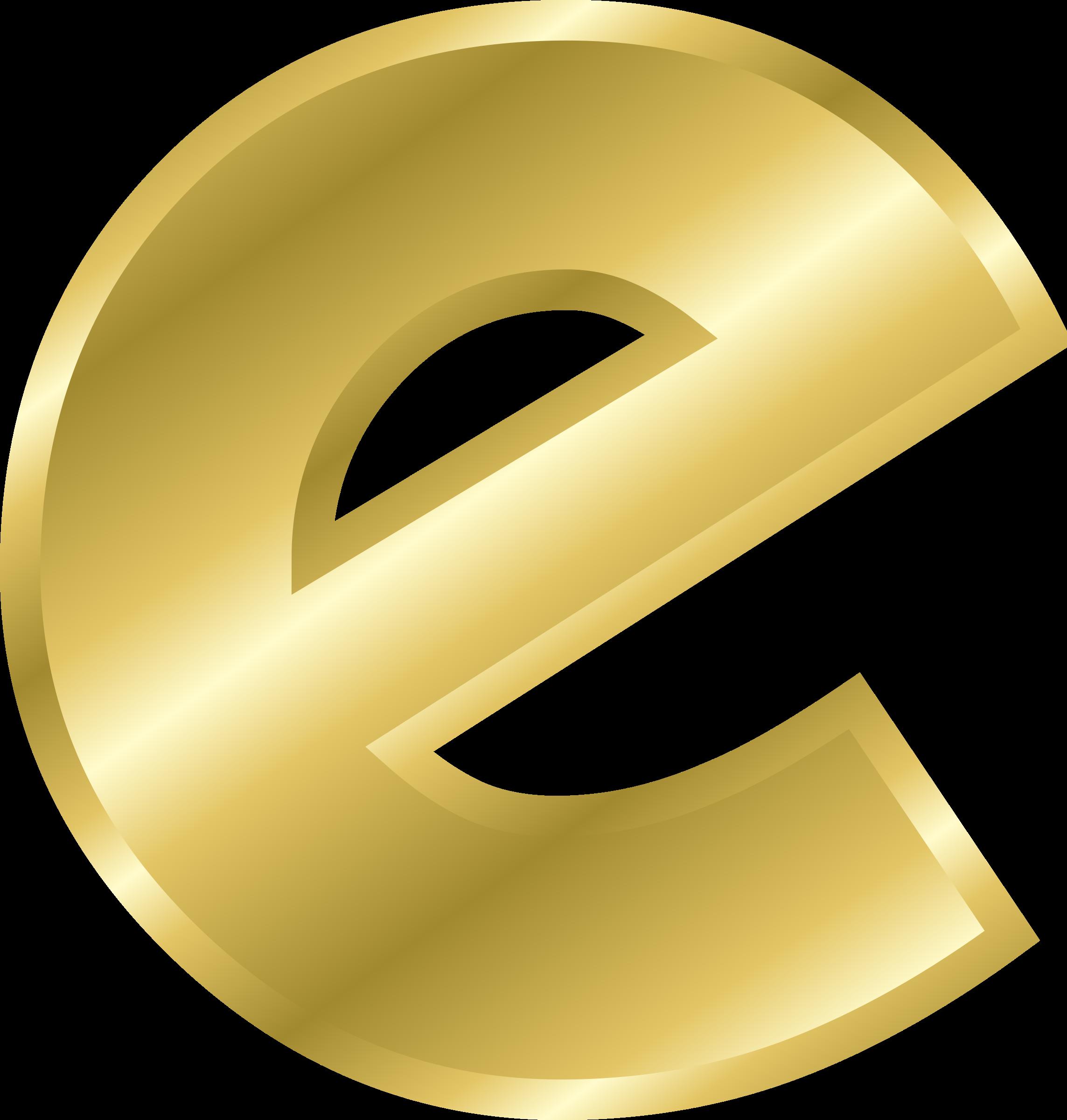E clipart yellow letter. Effect letters alphabet gold