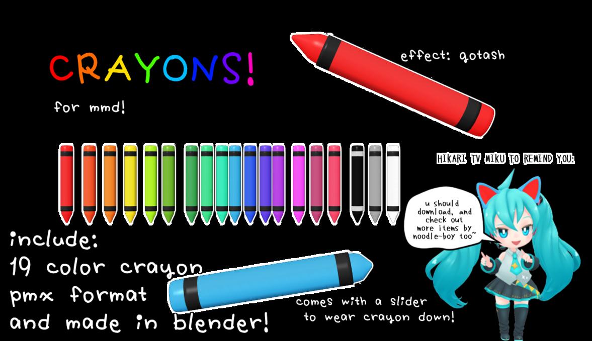 Mmd dl crayons colors. Crayon clipart cryons