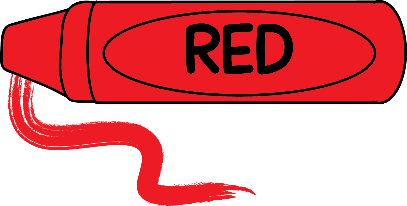 Crayon clipart long. Luxury of red letters