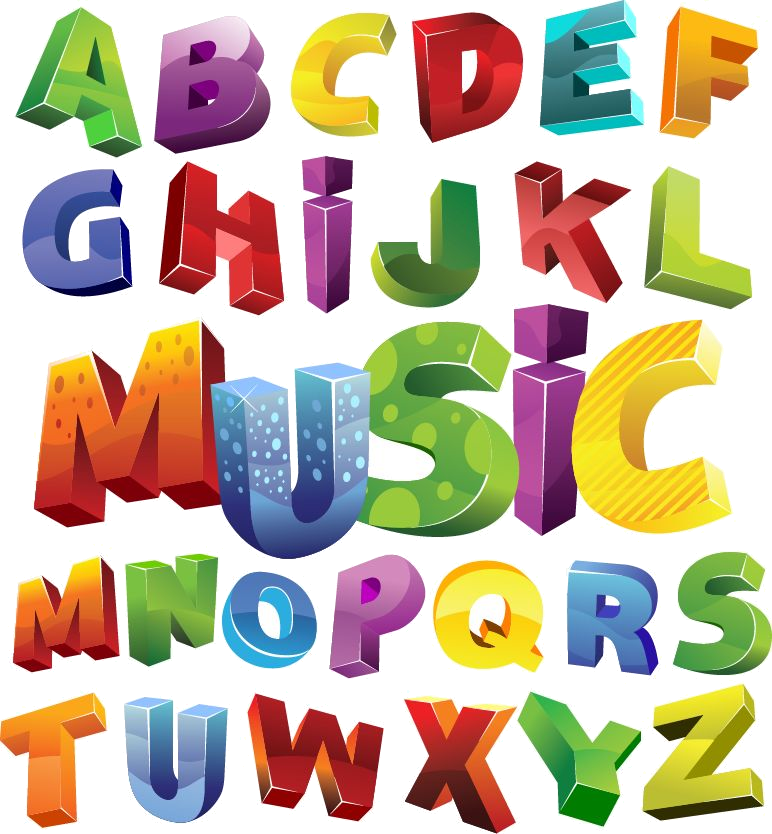 Clipart letters dance. Square round line in