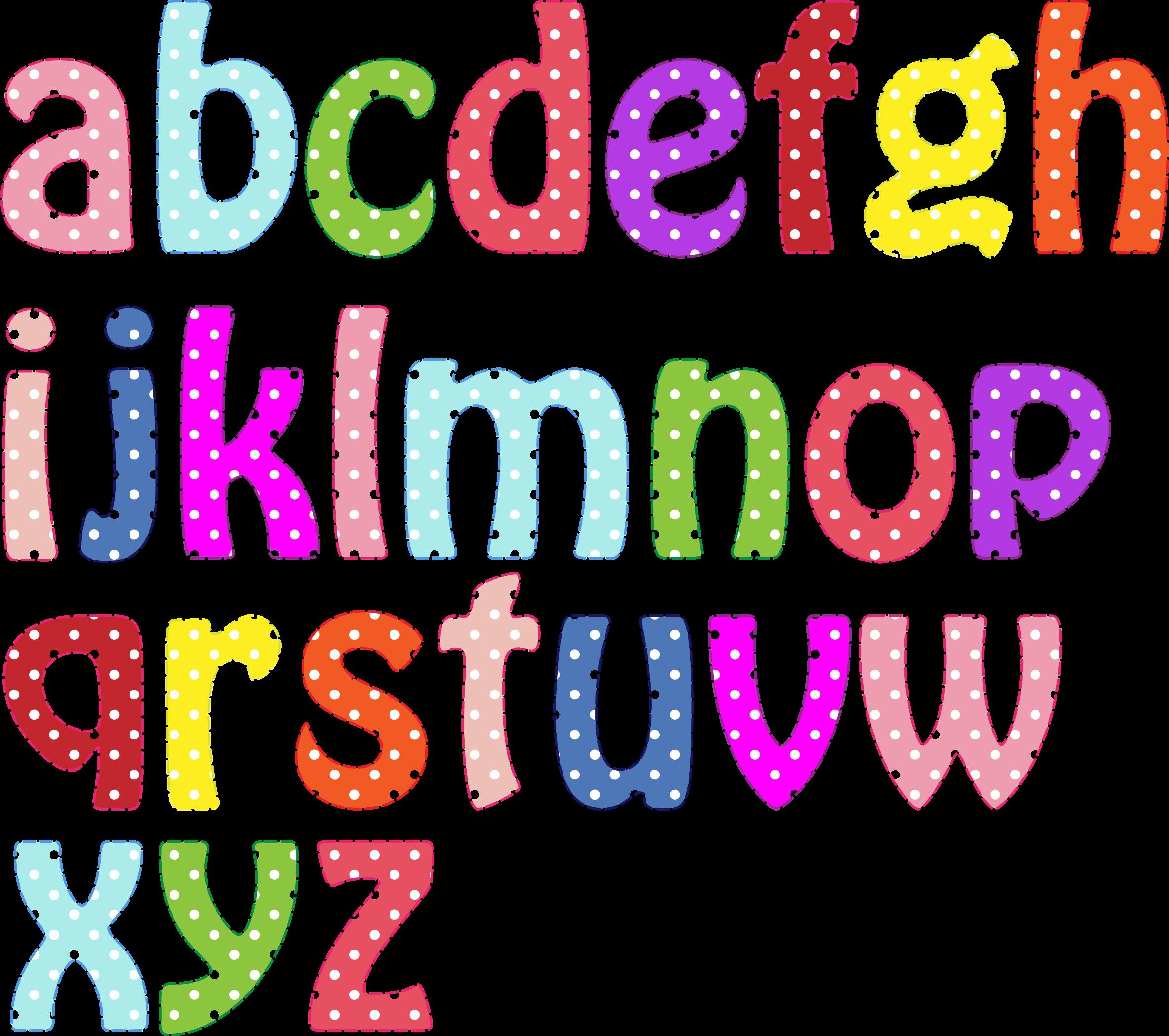 Letter clipart alphabet. Colorful lowercase letras pinterest
