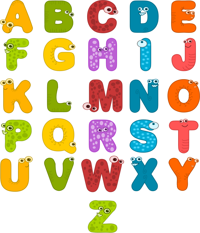 Letters clipart delivery. Desenhol ndia alfabeto em