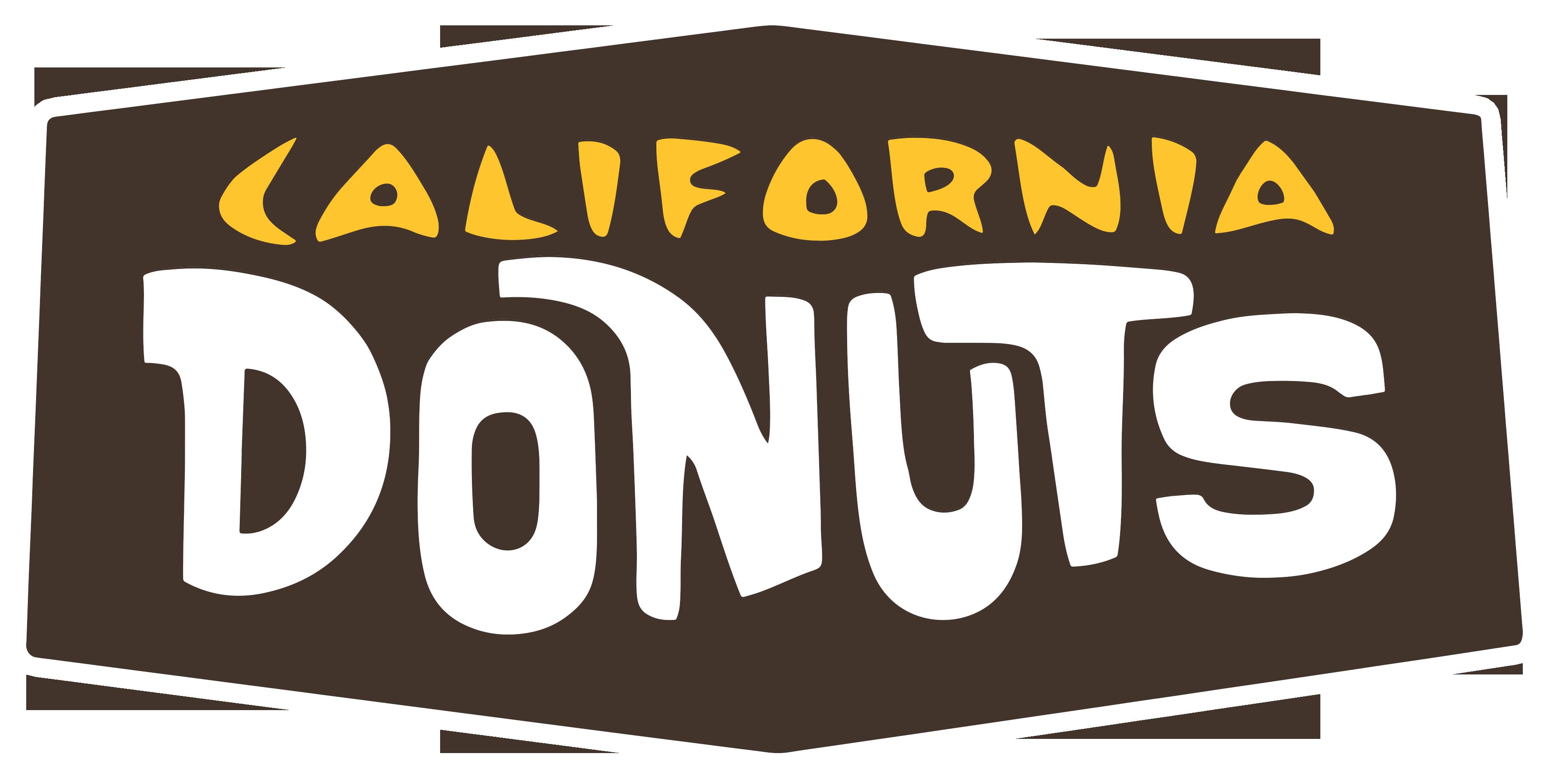 California word. Doughnut clipart transparent free
