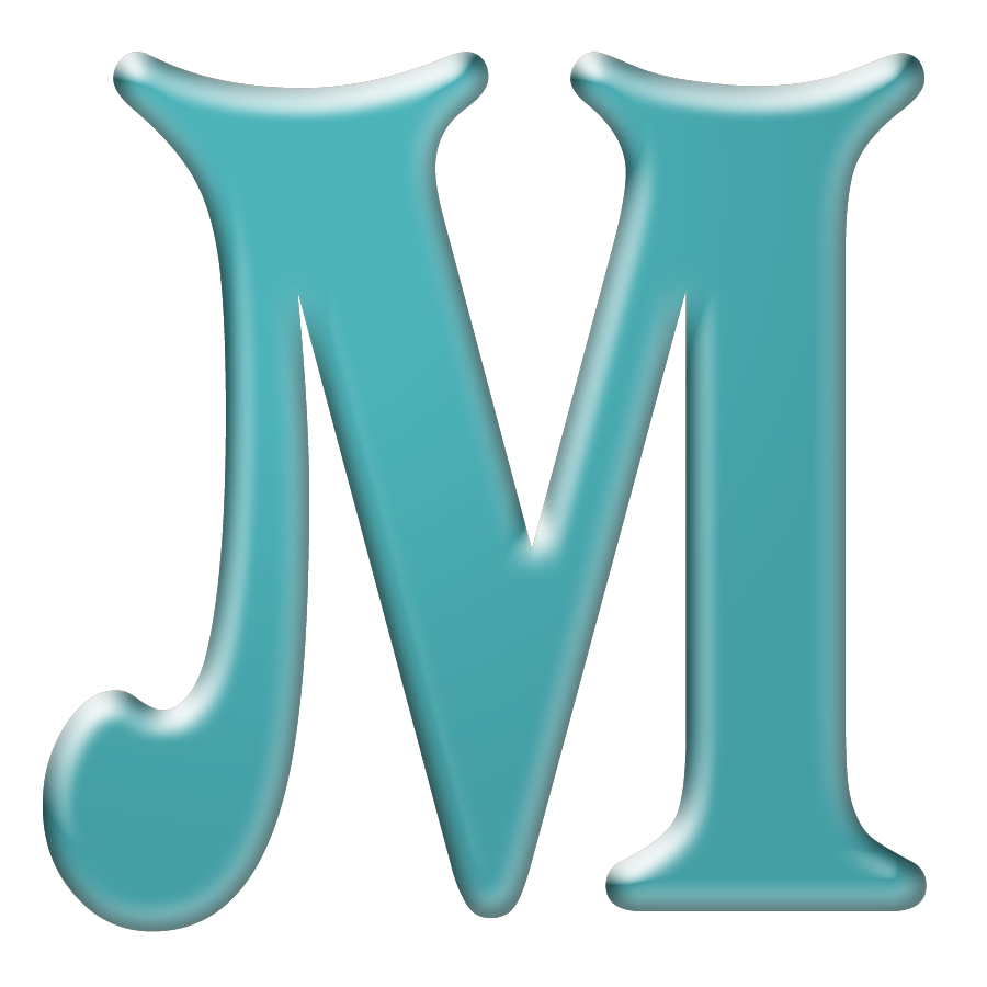 Download a zipped file. M clipart letter