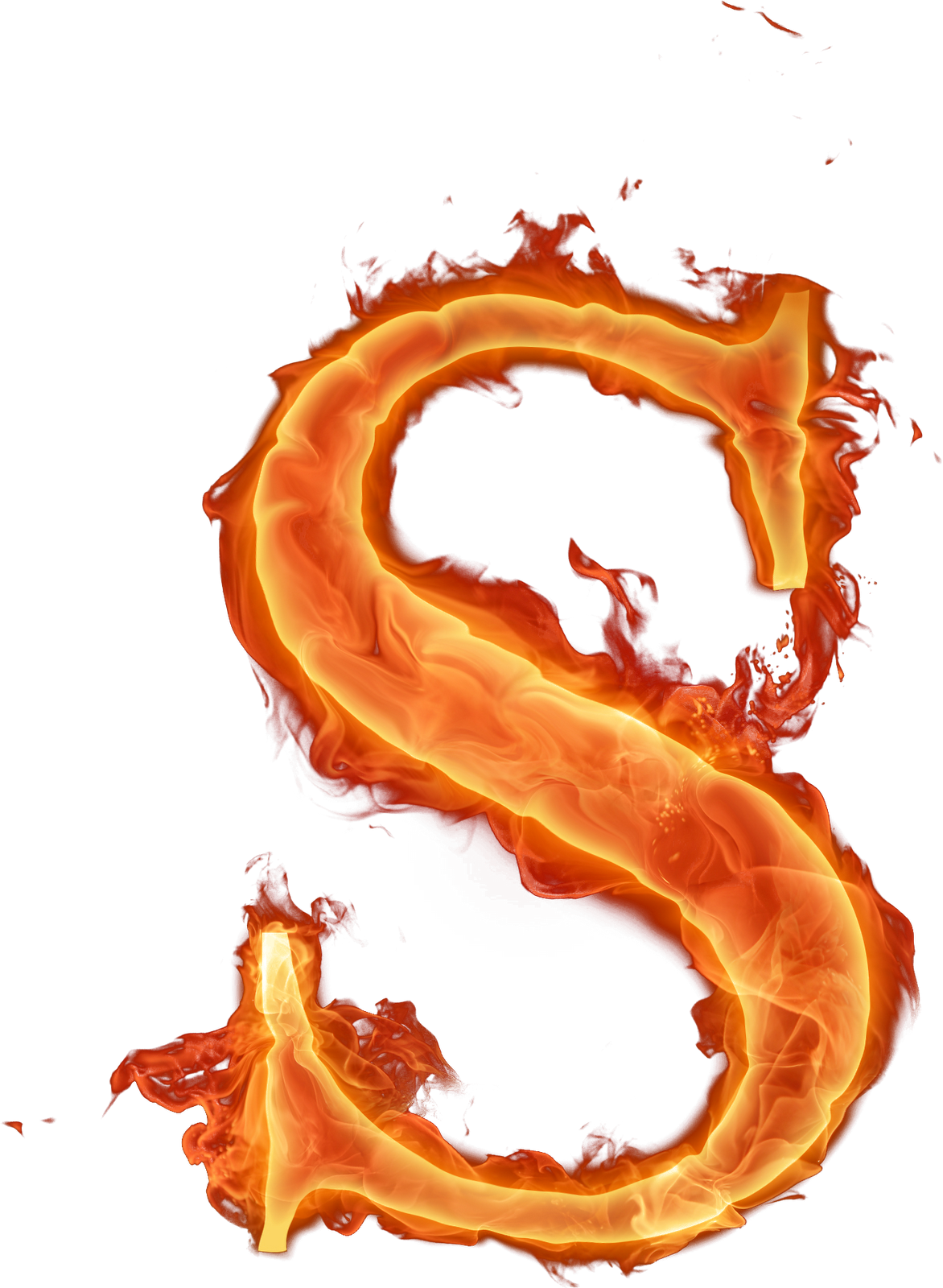 Letras png fogo chama. Letter clipart flame