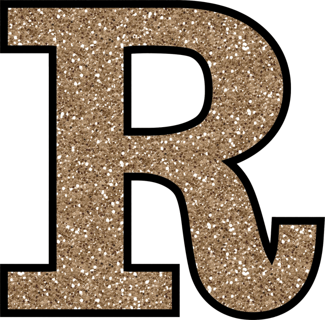 Glitter without the glue. R clipart alphabet r