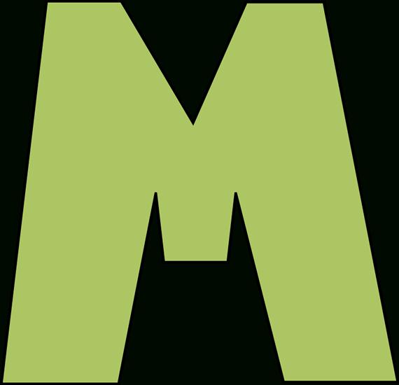 The best sample green. M clipart letter