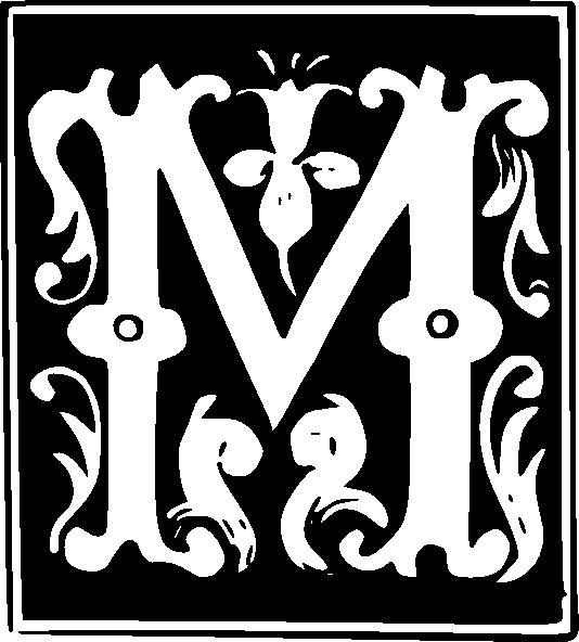 letter set clip art at clker com coffee text png vector m clipart decorative