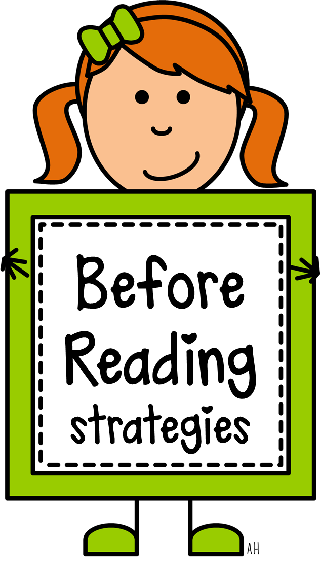 Clipart reading independent practice. Comprehension strategies before book
