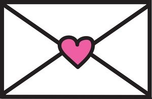 Love letter image sealed. Envelope clipart message box
