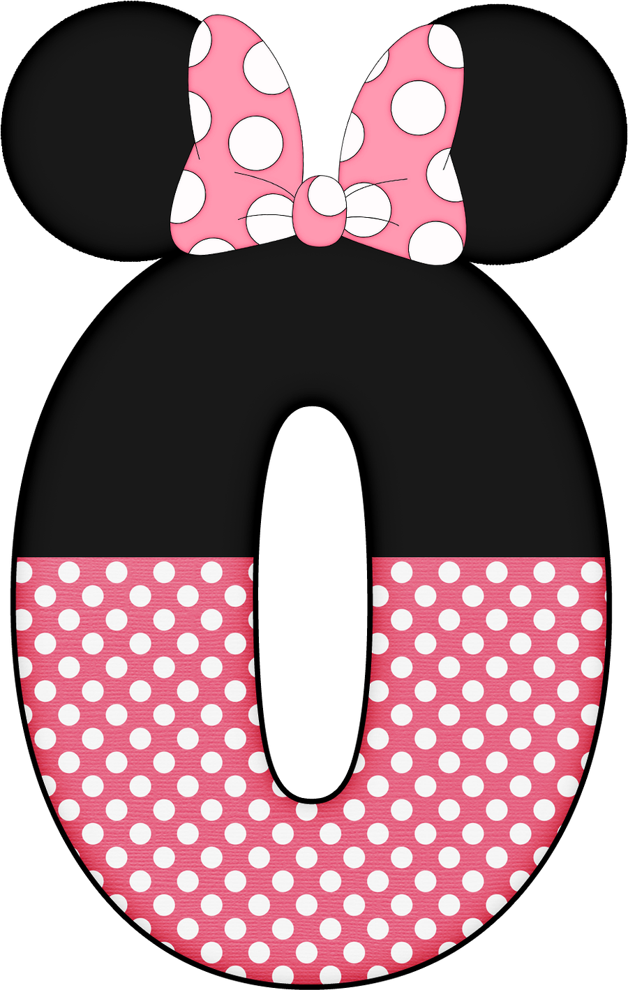 Mickey e si ratinha. Number 1 clipart minnie mouse