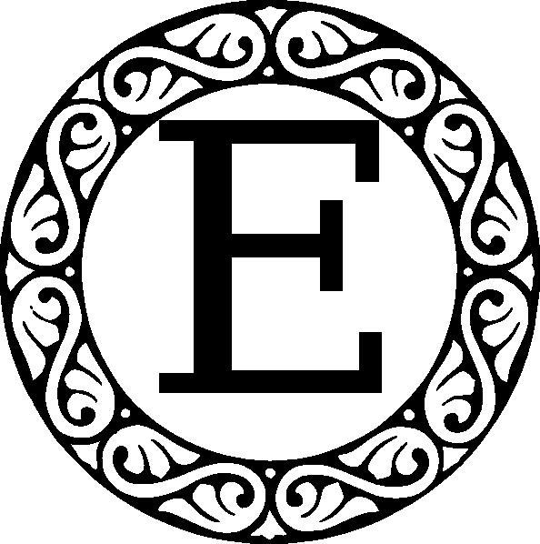 Letter clip art at. E clipart monogram