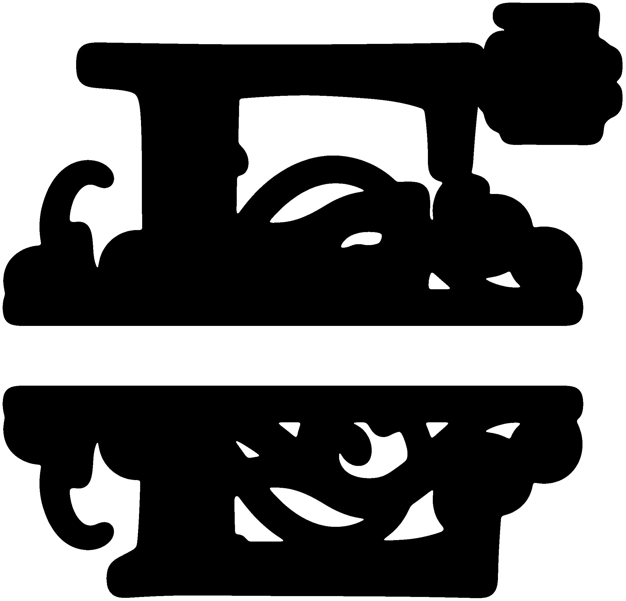 E clipart letter e. Split monogram sds svgattic