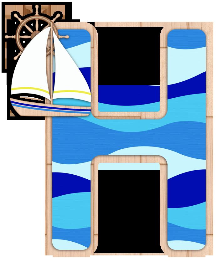 Nautical clipart letter.  h abc she