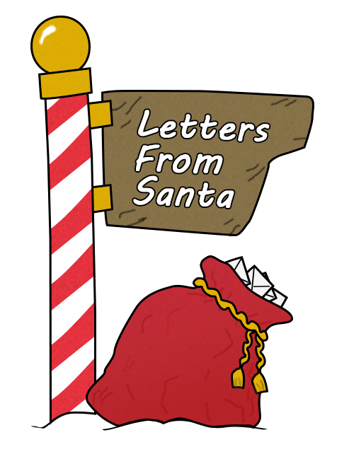 Letters from santa usps. Mailbox clipart north pole