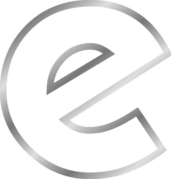 Letter e clip art. L clipart different font