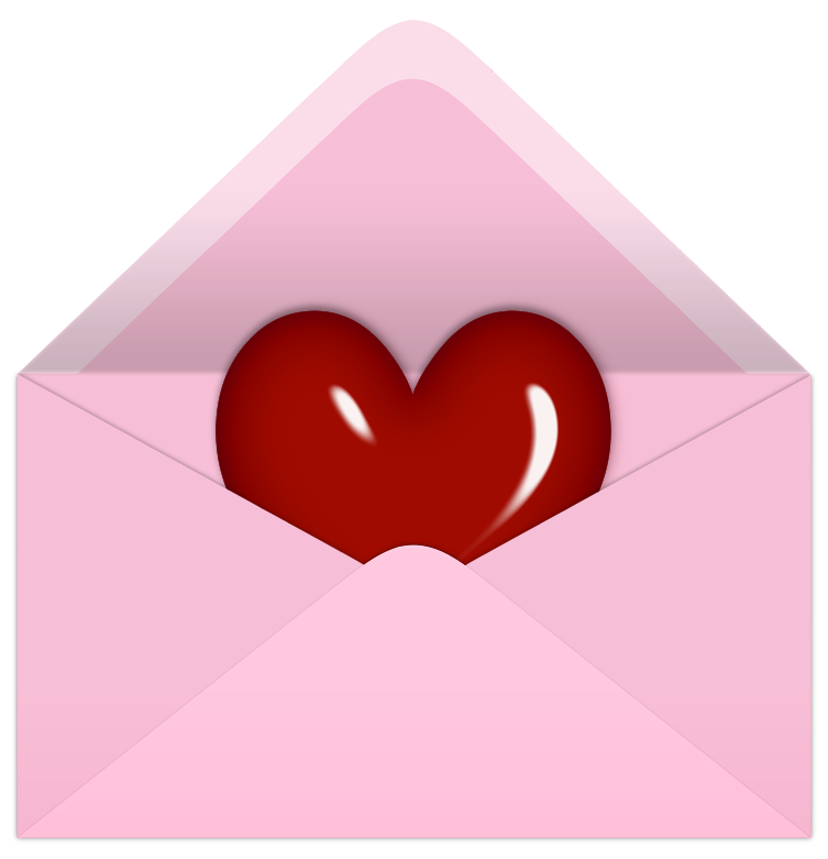 Pink valentine with red. Keys clipart letter