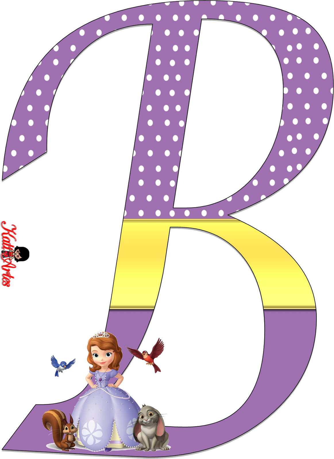 Sofia the first alfabeto. Party clipart alphabet