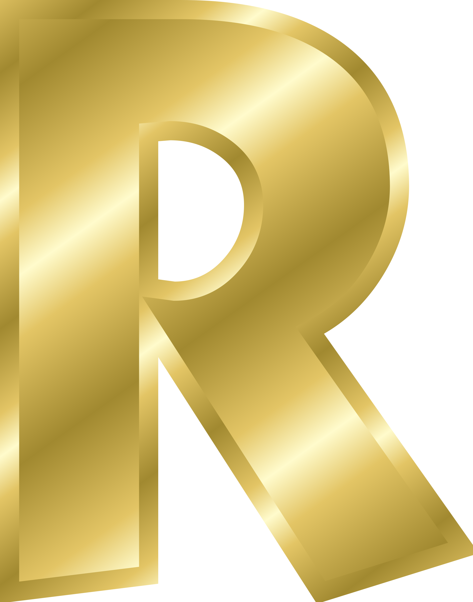 r clipart gold
