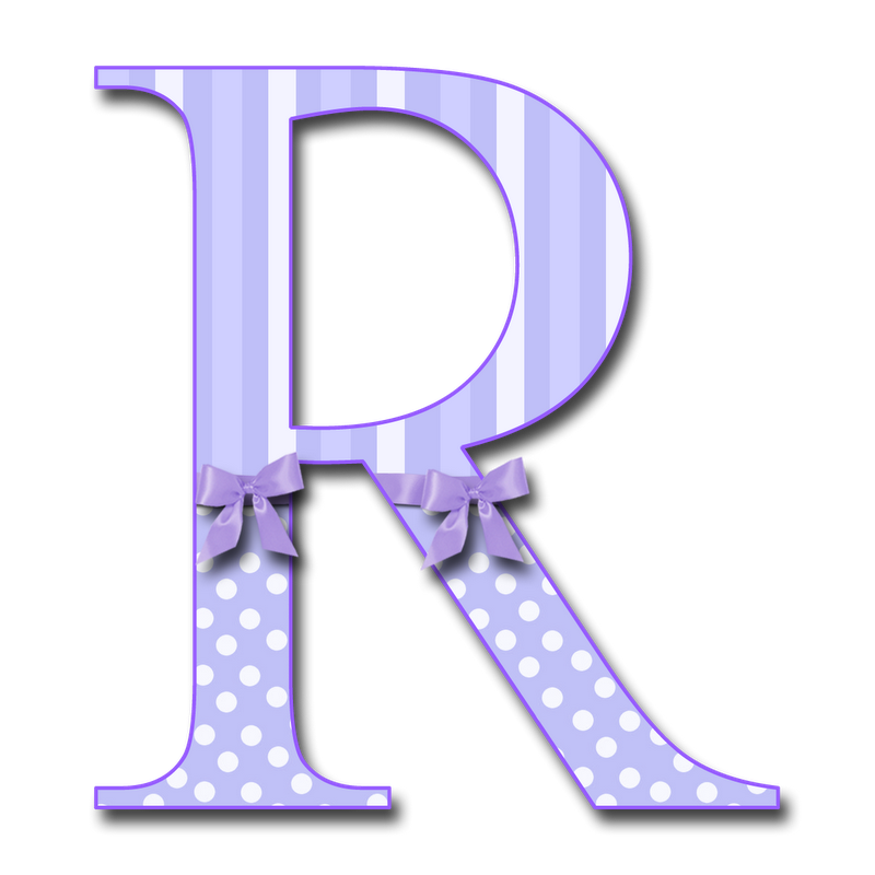 R clipart letter number.  capital purp stri