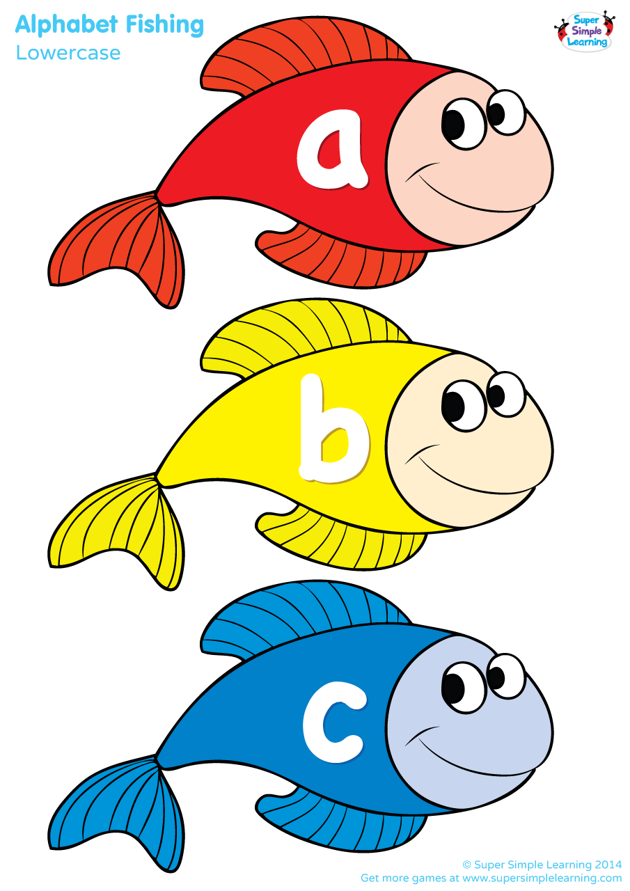 Families clipart fish. Lowercase alphabet fishing game