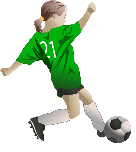 Little girl fort. Play clipart female soccer player