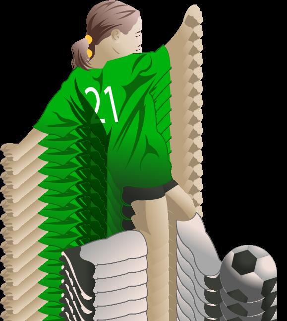 Sports clipart soccer. Little girl player fort