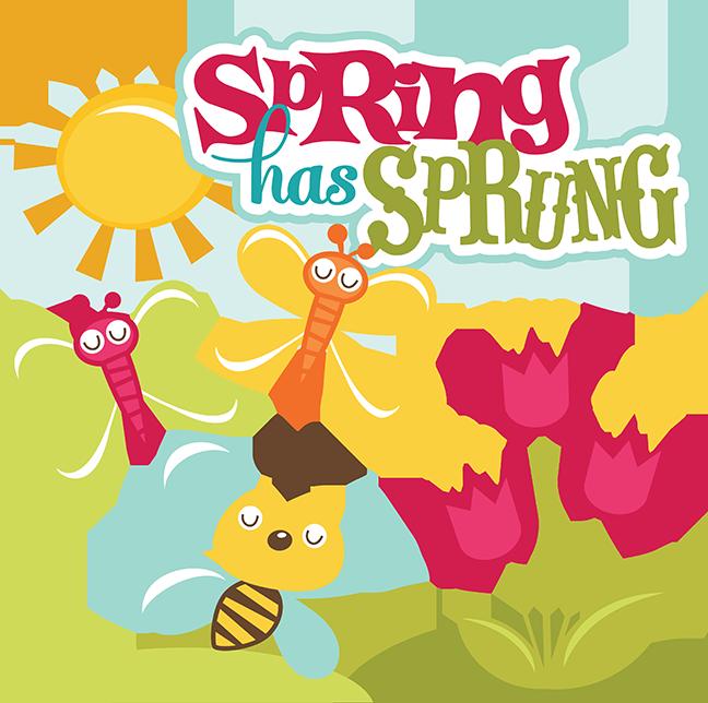 Kind clipart spring. Has sprung svg scrapbook